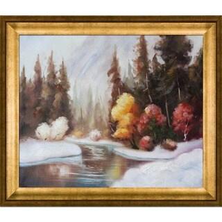 Brenda Thour 'Winter Landscape' Framed Fine Art Print