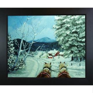 Peggy Miller 'Sleigh Ride' Framed Fine Art Print