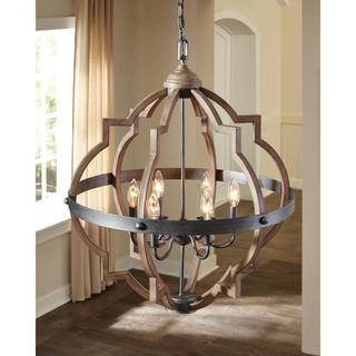 Sea Gull Socorro 6 Light Stardust Hall Foyer Fixture
