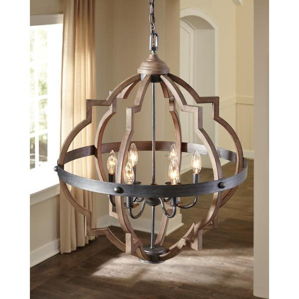 Shop Sea Gull Socorro 6 Light Stardust Hall Foyer Fixture