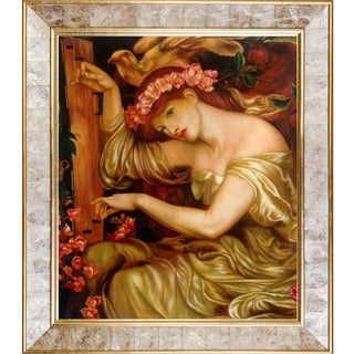 Gabriel Rossetti 'Algernon Charles Swinburne' Hand-painted Framed Canvas Art