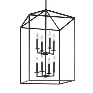 Sea Gull Perryton 8 Light Blacksmith Hall Foyer Fixture