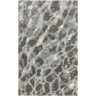 Hand Tufted Blach Wool/Viscose Rug (8' x 10')