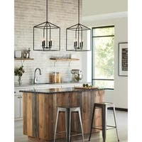 Sea Gull Lighting Perryton Blacksmith Finish Steel 4-light Hall Foyer Fixture