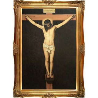 Diego Velazquez 'Christ on the Cross'  Hand-painted Framed Canvas Art