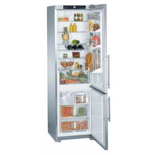 Liebherr CS 1360 Premium NoFrost 24 Inch Freestanding or Semi-built-in Refrigerator & Freezer with SmartSteel and Icemaker
