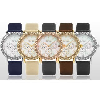 SO&CO New York LW5216LSO Women's Madison Quartz Crystal Watch with Leather Strap|https://ak1.ostkcdn.com/images/products/11129112/P18130039.jpg?impolicy=medium