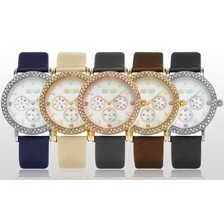 SO&CO New York LW5216LSO Women's Madison Quartz Crystal Watch with Leather Strap