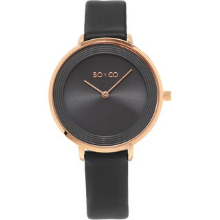 SO&CO New York Madison Women's Quartz Leather Strap Watch