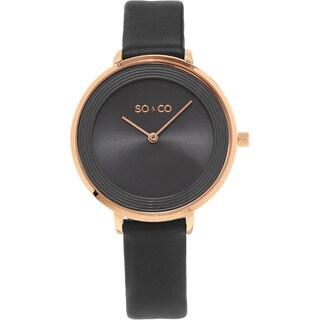 SO&CO New York Madison Women's Quartz Leather Strap Watch (Option: Grey)
