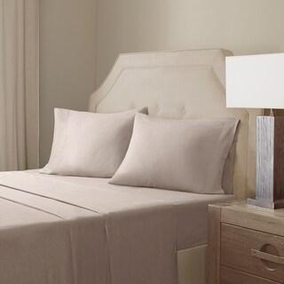 Madison Park Signature Cotton Linen Blend Sheet Set