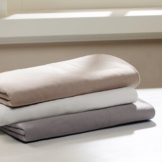Madison Park Signature Cotton Linen Blend Sheet Set