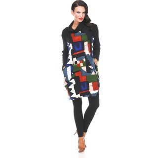 ARIS A. Patchwork Cowl Neck Tunic