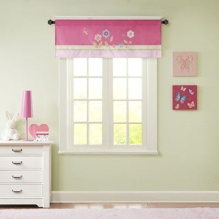 Mi Zone Kids Flower Power Printed and Applique Valance