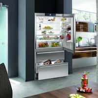 Liebherr CS 2062 Premium NoFrost 36 Inch Freestanding or Semi Built-in French Door Refrigerator/Freezer, Counter Depth Ice Maker