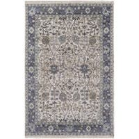 Hand-Knotted Crenshaw Wool/ Viscose Area Rug - 2' x 3'