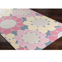 Hand-Hooked Chowk Poly Acrylic Area Rug