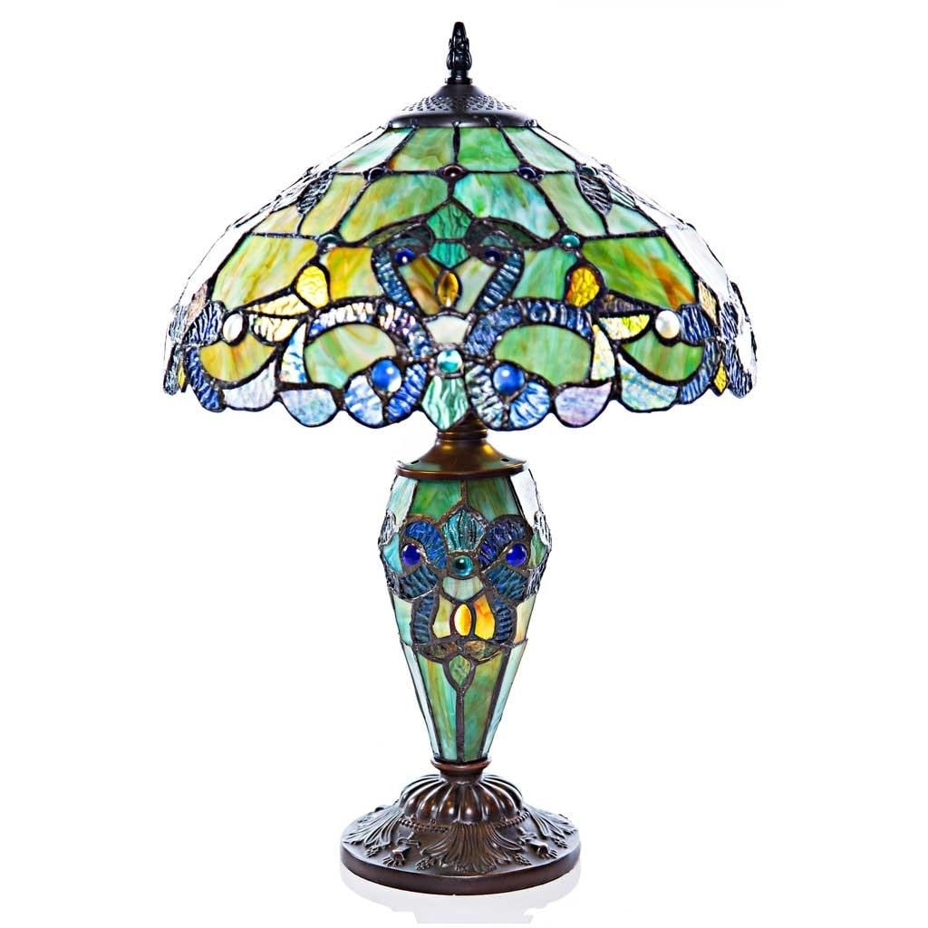 "River Of Goods 20""H Stained Glass Magna Carta Table Lamp ..."