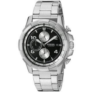 Fossil Men's FS5112 Dean Chronograph Black Dial Stainless Steel Bracelet Watch