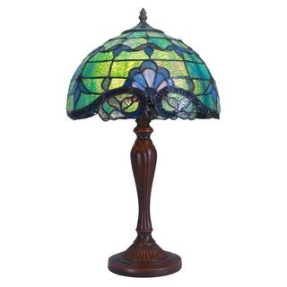 River of Goods 20.5-inch Tiffany Style Stained Glass Allistar Table Lamp