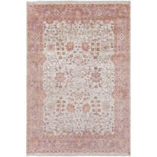Hand-Knotted Crenshaw Wool/ Viscose Area Rug (9 x 13 - Slate)