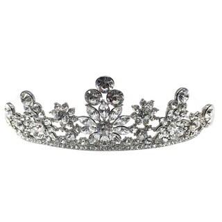 Kate Marie CWN-SH8514 Austrian Crystal Silver Crown Tiara Headband