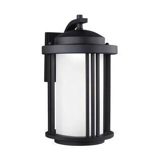 Sea Gull Crowell LED Light Black Outdoor Fixture