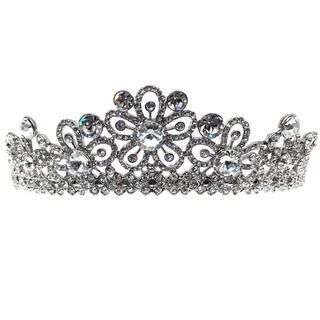 Kate Marie CWN-SH8600 Silver Austrian Crystal Tiara Headband