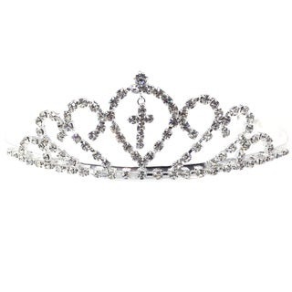 Kate Marie CWN-YC10702 Rhinestone Silver Crown Tiara Headband
