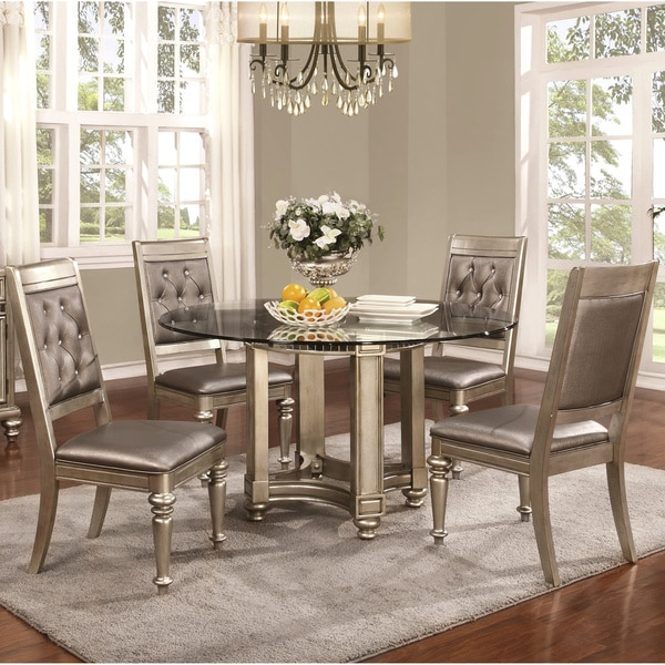 Shop Glamorous Design Metallic Platinum Table Base With