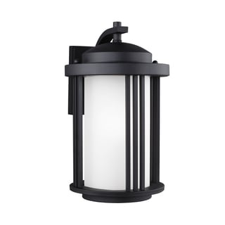 Sea Gull Crowell 1 Light Black Outdoor Fixture