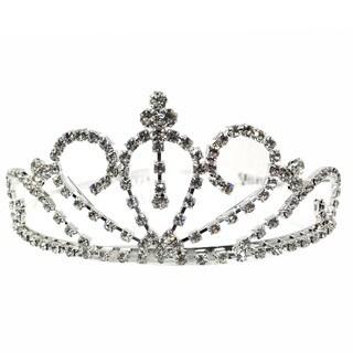 Kate Marie CWN-YC10802 Rhinestone Silver Crown Tiara Headband