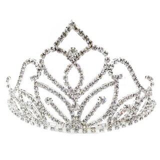 Kate Marie CWN-YC11803 Rhinestone Silver Crown Tiara Headband