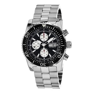 Revue Thommen Men's 17030.6137 'Air Speed' Black Dial Stainless Steel Chronograph Swiss Automatic Wa