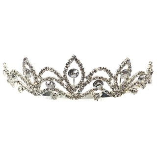 Kate Marie CWN-YJ0012 Rhinestone Silver Crown Tiara Headband