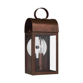 Sea Gull Conroe 1 Light Weathered Copper Outdoor Fixture