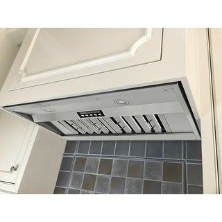 KOBE IN2630SQB-700-1 Premium 30-inch Built-In Range Hood, 4-Speed, 750 CFM, LED Lights, Baffle Filte
