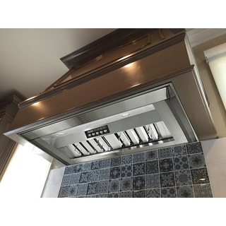 KOBE INX2630SQB-700-2 Brillia 30-inch Built-In Range Hood, 4-Speed, 750 CFM, LED Lights, Baffle Filt