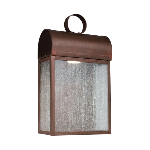 Sea Gull Conroe LED Light Weathered Copper Outdoor Fixture