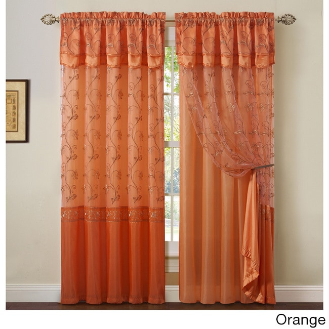 Charming Laurel Creek Brock 2 Layer Curtain Panel With Attached Backing U0026 Valance (3  Options