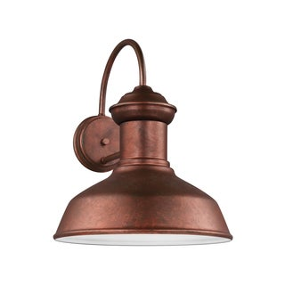 Sea Gull Fredricksburg 1 Light Weathered Copper Outdoor Fixture