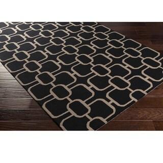Hand-Hooked Caracoles Wool Rug (8' x 10')