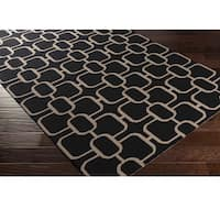 Hand-Hooked Caracoles Wool Area Rug - 8' x 10'