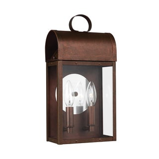 Sea Gull Conroe 2 Light Weathered Copper Outdoor Fixture