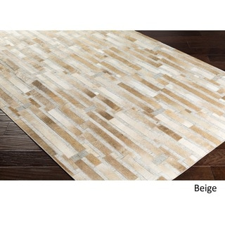 Hand-Crafted Euclid Viscose/Leather Rug (5' x 7'6)