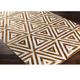 Hand-Crafted Estafeta Viscose/Leather Rug (5' x 7'6)
