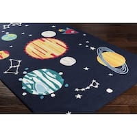 Hand-Hooked Chung Poly Acrylic Area Rug - 5' x 7'6""