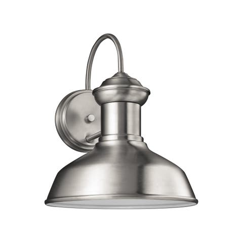 Sea Gull Fredricksburg 1 Light Satin Aluminum Outdoor Fixture
