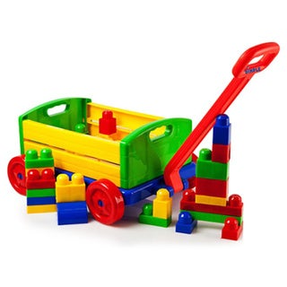 Dimple DC11588 30-piece Building Bricks Set with Wagon