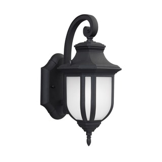 Sea Gull Childress 1 Light Black Outdoor Fixture